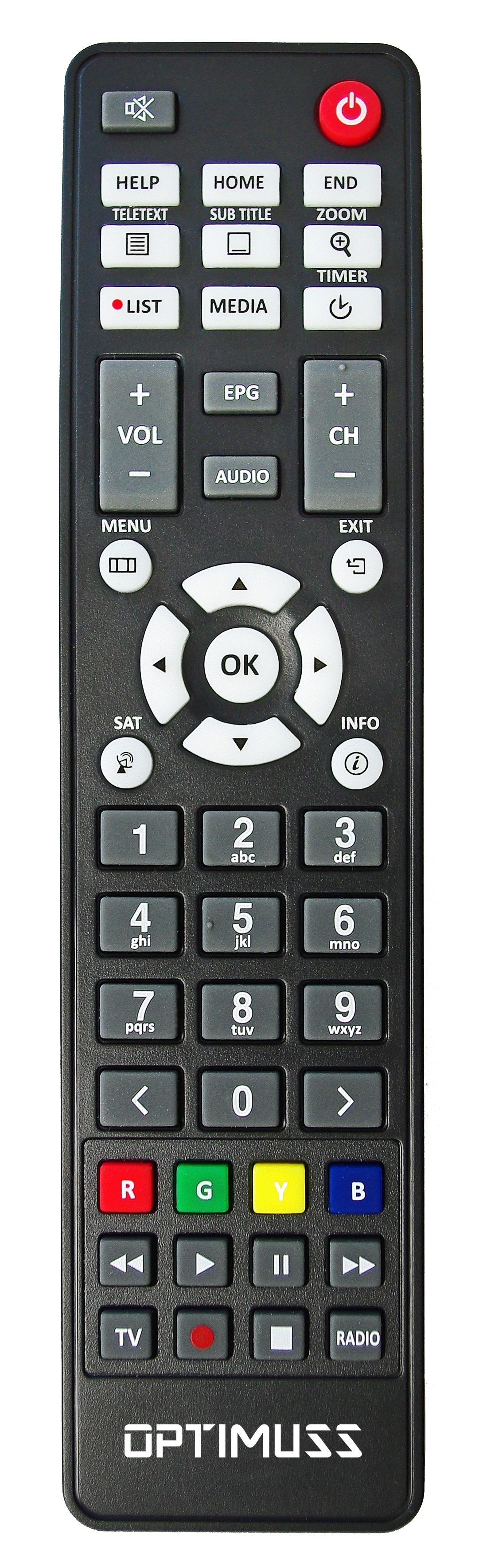 optimuss os2 plus Remote